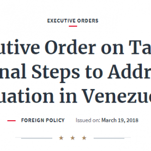Trump Issues Action Blocking US Citizens From Trading Or Financing Venezuelan Cryptocurrency Via @CNBC