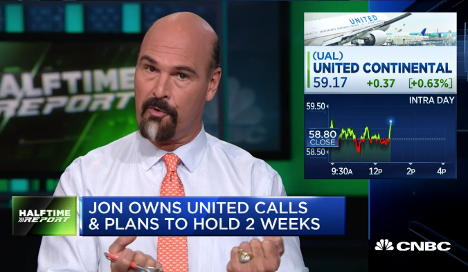 Bulls Riding High As $UAL Takes Off
